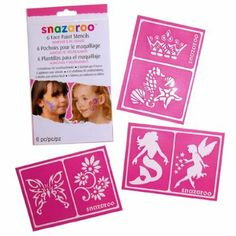 Amazon.com: Snazaroo Face Paint Stencils - Girls Fantasy, Set of 6: Toys & Games