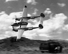 January 27, 1939: First flight of the Lockheed P-38 Lightning, a WWII American Twin-engine, single seat fighter aircraft. It had distinctive twin booms and a single, central nacelle containing the cockpit and armament.