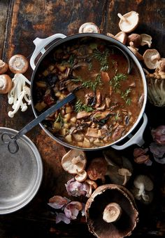 Ruthenian Mushroom Soup Cooking Light Recipes, Fun Cooking, Healthy Cooking, Cooking Oil, Cooking Games, Cooking Turkey, Cooking Ideas, Vegan Soups, Vegetarian Recipes
