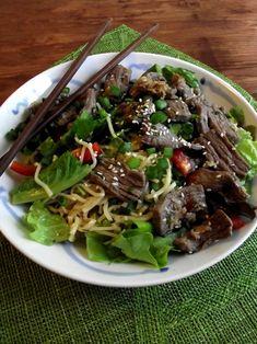 Asian Beef Noodle Salad