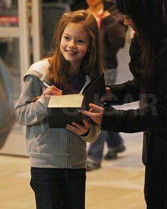 Mackenzie Foy who plays Renesmee-Breaking Dawn, arriving in Vancouver