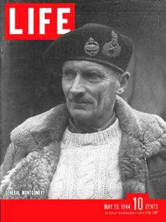 Life Magazine Cover Copyright 1944 General Montgomery - www.MadMenArt.com | Life…