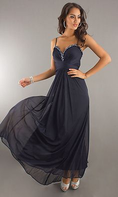 Another classy option. Low-back but not wide open. very flowy and fun (a lot like last year's dress)