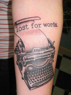 The World's Best Photos of typewritertattoo Old Typewriter Font, Typewriter Tattoo, Book Tattoo, I Tattoo, Literary Tattoos, Body Modifications, World Best Photos, Future Tattoos, Skin Art