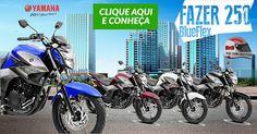 HILTON MOTOS: Yamaha Fazer 250 BlueFlex, 2017. Painel digital, l...