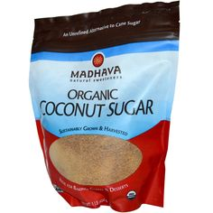 Madhava Natural Sweeteners, Organic Coconut Sugar, 1 lb (454 g)