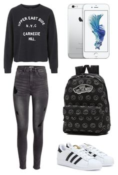 """""""29.10.15"""" by sxrxxrxs ❤ liked on Polyvore featuring Topshop, H&M, adidas and Vans"""