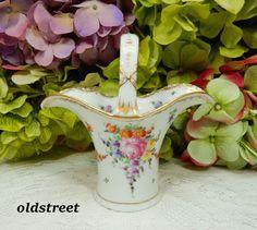 Beautiful Dresden Franziska Hirsch Porcelain Basket ~ Dresden Flowers ~ Gold #Dresden