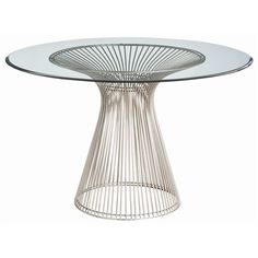 Buy the Arteriors 6556 Brushed Nickel Direct. Shop for the Arteriors 6556 Brushed Nickel Nova 47 Inch Diameter Glass Top Iron Accent Table and save. Round Entry Table, Beveled Glass, Dining Furniture, Urban Furniture, Metal Furniture, Furniture Ideas, Furniture Design, Outdoor Furniture, Glass Table