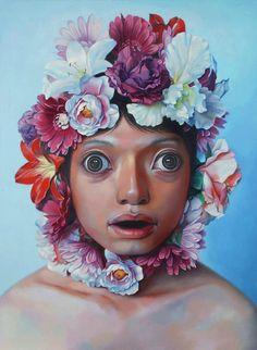 Korehiko Hino, Party, 2008 130.3×97cm. Oil on Canvas