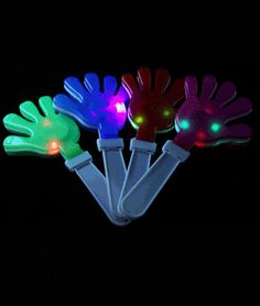 LED Hand Clappers - Assorted - Coolglow.com