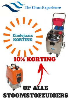 Eindejaars KORTING The Clean Experience 10% KORTING OP ALLE STOOMST...