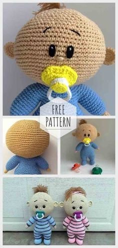 Click the image to get your Crochet Baby Amigurumi Free Pattern! Click the image to get your Crochet Baby Amigurumi Free Pattern! Doll Amigurumi Free Pattern, Crochet Dolls Free Patterns, Amigurumi Doll, Knitting Patterns, Amigurumi Tutorial, Crochet Crafts, Crochet Toys, Crochet Baby, Crochet Projects