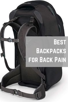 6 Best Backpacks for BACK PAIN to use in 2020 - [UPDATED] Cool Camping Gadgets, Best Travel Gadgets, Backpacking Gear, Camping Gear, Hiking Backpack, Travel Backpack, Muscles In Your Back, Backpack Organization, Cool Backpacks