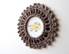 Crochet Picture Frame with Small Picots. PDF Pattern by JaKiGu