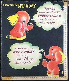 Forgetful elephants