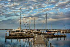 The beautiful harbor in Harrisville, MI