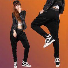hip hop sweatpants Hiphop hip-hop hiphop loose fashion female plus size long trousers $46.42