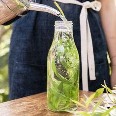 "Lemon Verbena Iced Tea | MyRecipes.com Upon sipping this infusion, Scott's guests often exclaim, ""What is this wonderful tea?"" To yield cup after cup of delectable tea, plant lemon verbena--a perennial shrub--in a corner of your garden."