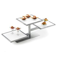 """Cal Mil 1128-1212-15 White Corian Shelf for One by One Tiered Riser - 12"""" x 12"""", $19.49 at Webstaurant store"""