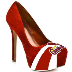 HERSTAR Women's St. Louis Cardinals Suede Pumps