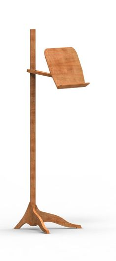 Solid Wood Cherry Music Stand Contemporary