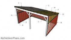 This step by step diy project is about tractor shed plans. This is PART 2 of the shed where I show you how to build the lean to roof for the tractor shed. Shed Design Plans, Wood Shed Plans, Free Shed Plans, Storage Shed Plans, Barn Plans, Lean To Roof, Lean To Shed, Run In Shed, Backyard Sheds