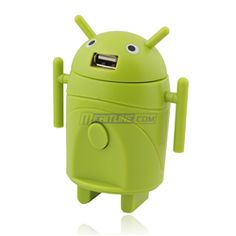 USB Charger / travel adapter, Android design. Just pinning this because it's cute.