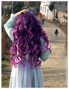 El baul de marcela: cabello:MORADO/LILA!!