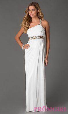 One Shoulder Floor Length Dress at PromGirl.com