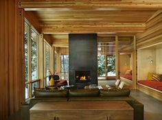North Lake Wenatchee Cabin Living & Dining, DeForest Architects…