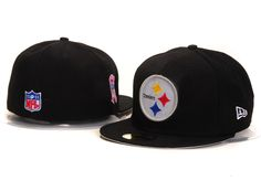 19faa4d2d42 New Era Pittsburgh Steelers 014 Black Fitted Hats cheap for sale
