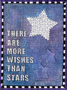 Mixed media art - There are more wishes than stars