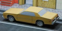 """Classic Plymouth Fury 1978 Paper Model - by Race Paper - == -  This is the Plymouth Fury 1978, more one paper model of a Classic Vehicle from the Race Paper Advent Calendar 2013. Remember that this model is only available for download for a day or two, so be sure to """"grab"""" yours."""
