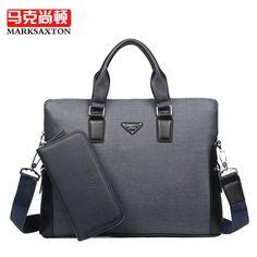 64.89$  Buy here - http://ali0a3.worldwells.pw/go.php?t=32767445109 - MARKSAXTON New Fashion PVC Men Bag Famous Brand Shoulder Bag Messenger Bags Causal Handbag Laptop Briefcase Male