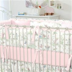 Pink Over The Moon Toile Crib Bumper 250x250 Image