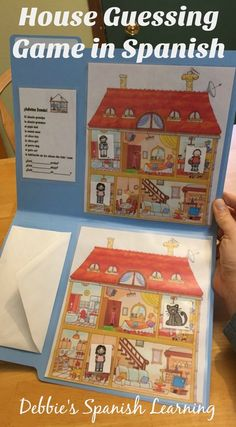 Spanish File Folder Guessing Game A great game to get your students talking about the rooms in a house. Similar to battleship in that they have to guess where their opponents pieces are located. Spanish Games, Spanish 1, How To Speak Spanish, Learn Spanish, Spanish House, Spanish Vocabulary Games, Spanish Grammar, Vocabulary Activities, Learn French