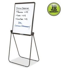 "Quartet Ultima Adjustable Economy Dry Erase Easel  - 27"" x 34"" Board Size - Melamine Board Surface - 2 Legs - Plastic Frame"