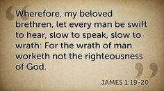 Daily Bible Verse James 1:19-20