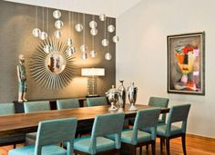 Dining Room With Feature Wall