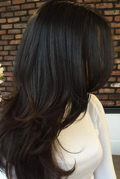 24 Trendy Long Layered Hair Ideas - hair styles for short hair : Medium Hair Cuts, Medium Long Hair, Long Hair Cuts, Medium Hair Styles, Short Hair Styles, Layers For Long Hair, Brunette Long Layers, Spring Hairstyles, Hairstyles Haircuts