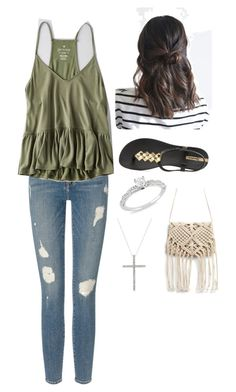 """""""Untitled #352"""" by rikey-byrnes on Polyvore featuring Frame Denim, American Eagle Outfitters, IPANEMA and Ice"""