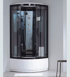 Best quality with unique Multi-functional shower Material: tempered glass Shower Cabin, Hangzhou, Drip Coffee Maker, Locker Storage, Kitchen Appliances, Box, Glass, Furniture, Detail
