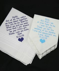 Embroidered Wedding Handkerchiefs Gifts for by NapaEmbroidery