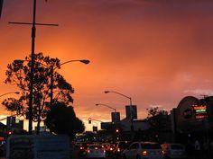 Sunset in Naples, Long Beach.
