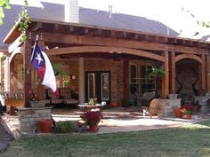 backyard covered patio ideas | arbor and attached covered patio with screened in porch covered patio ...