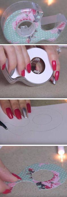 Dispensador de fita bonita |  DIY Tumblr Inspirado School Supplies para Teens você precisa tentar!