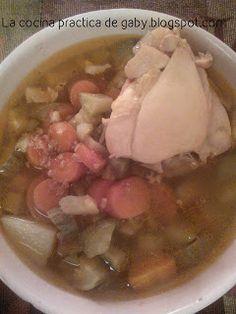 La Cocina Practica de Gaby: Caldo de Pollo practico y económico.