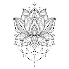 Henna tattoo flower template in indian style ethnic floral paisley lotus mehndi style ornamental pattern in the oriental style 2 mandala compass temporary tattoo mandala tattoo compass tattoo boho gift traveller gift blue tattoo Lotus Flower Tattoo Design, Mandala Tattoo Design, Henna Tattoo Designs, Flower Tattoos, Lotus Mandala Design, Henna Flower Designs, Design Tattoos, Estilo Mehndi, Simple Mandala Tattoo