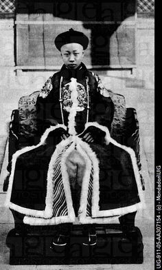 Shown is Pu Yi, the last ever emperor of the Qing Dynasty.